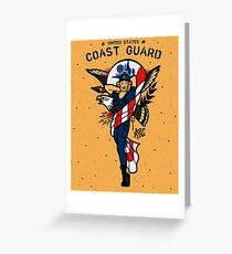 SJ Inspired Coast Guard Pinups - USCG Ensign Greeting Card