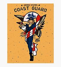 SJ Inspired Coast Guard Pinups - USCG Ensign Photographic Print