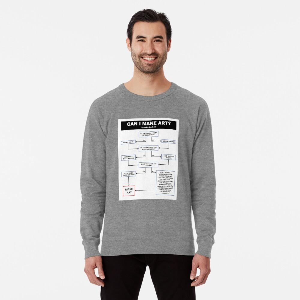Can I Make Art? Flowchart Lightweight Sweatshirt