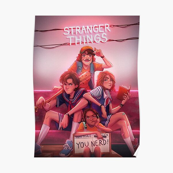Stranger Things Poster By Camilae Redbubble Get the best deal for stranger things poster from the largest online selection at ebay.com. redbubble
