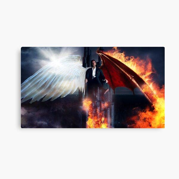 Lucifer - Hellish Throne Canvas Print