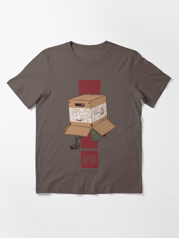 Alternate view of Think INSIDE the box. Essential T-Shirt