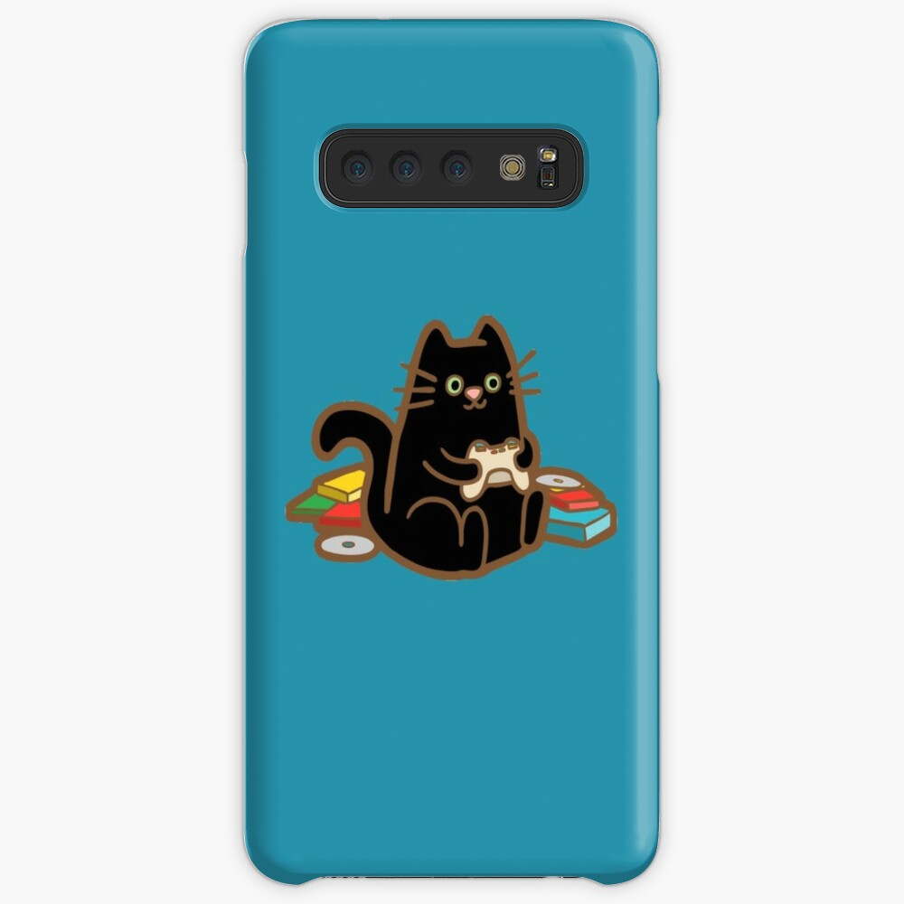 Gamer Cat in blue Samsung Galaxy Snap Case