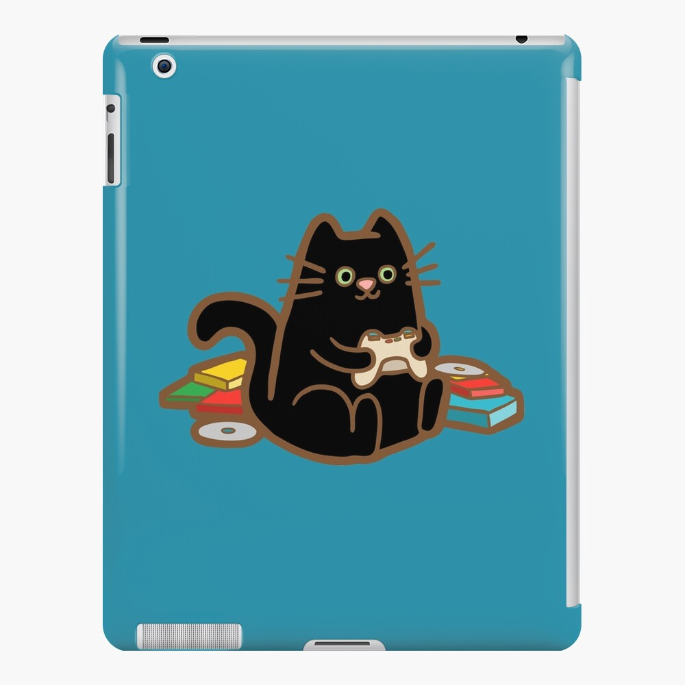 Gamer Cat in blue iPad Snap Case