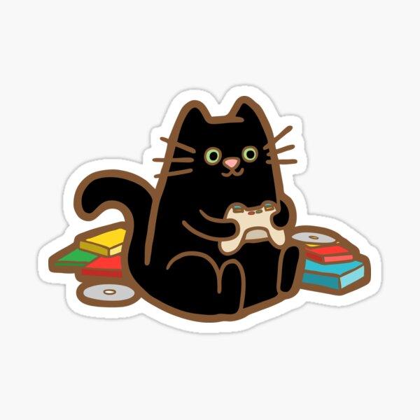 Gamer Cat in blue Sticker