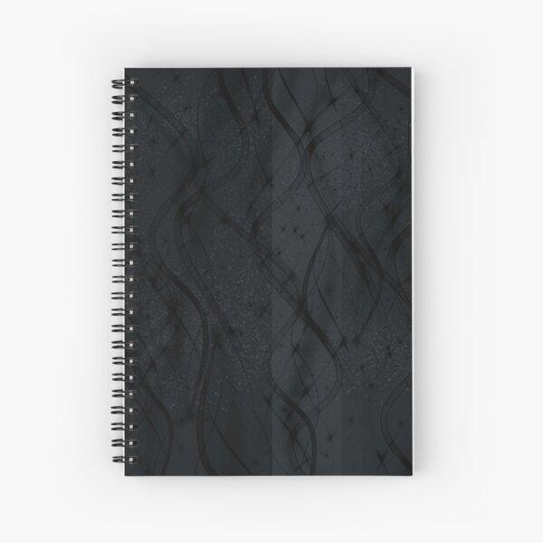 Black Swirl Spiral Notebook
