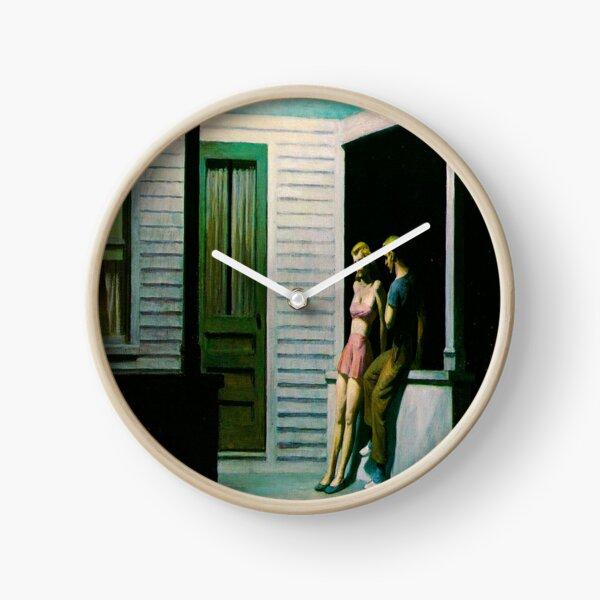 Summer Evening-Edward Hopper Clock