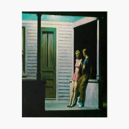 Summer Evening-Edward Hopper Art Board Print