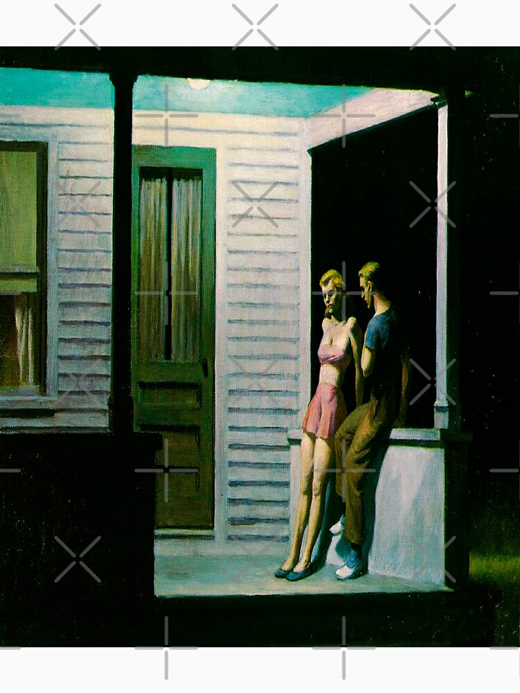 Summer Evening-Edward Hopper by LexBauer