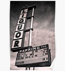 Capitol Liquors-split toned Poster