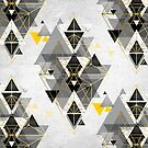 Gelb und Schwarz geometrisch von UrbanEpiphany