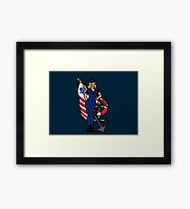 SJ Inspired Coast Guard Pinup 4 Framed Print