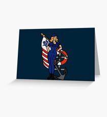 SJ Inspired Coast Guard Pinup 4 Greeting Card