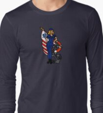 SJ Inspired Coast Guard Pinup 4 Long Sleeve T-Shirt