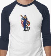 SJ Inspired Coast Guard Pinup 4 Baseball ¾ Sleeve T-Shirt