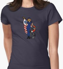 SJ Inspired Coast Guard Pinup 4 Fitted T-Shirt