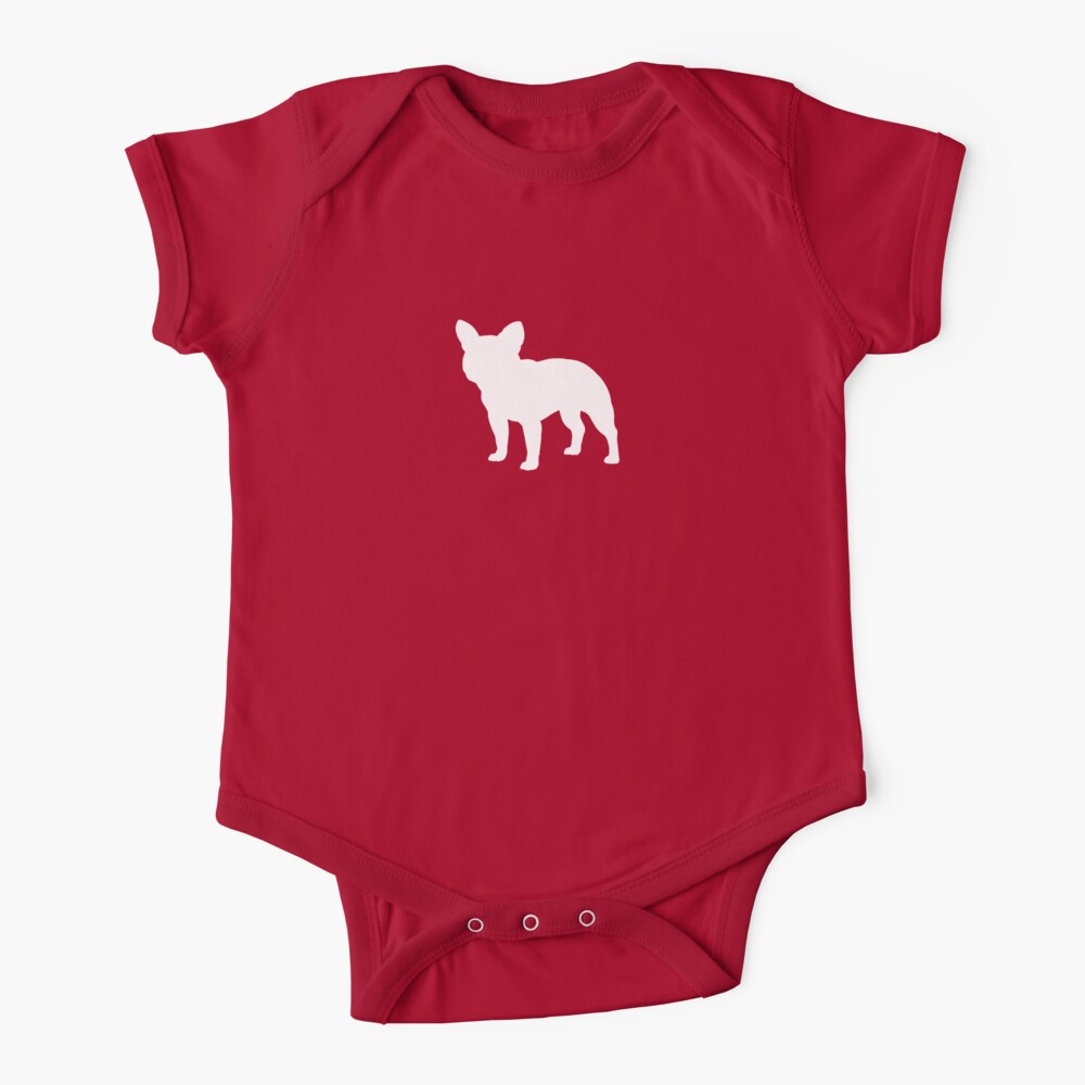 French Bulldog Silhouette(s) Baby One-Piece