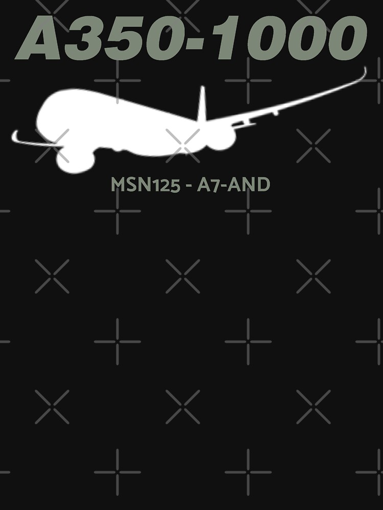 Airbus A350-1000 MSN125 A7-AND (White Print) by AvGeekCentral
