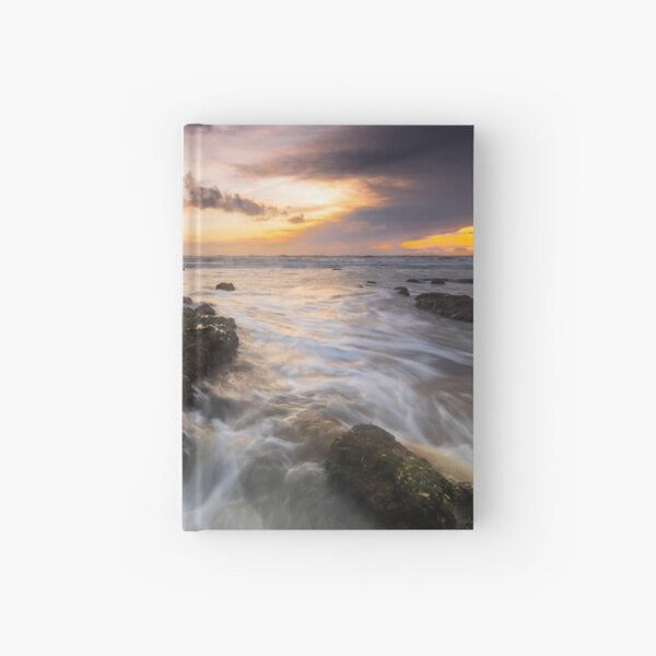 Seascape sunset Hardcover Journal