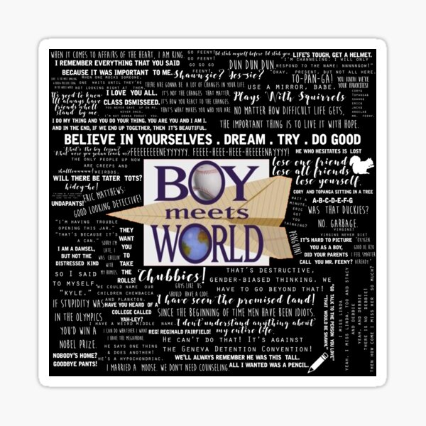 Boy Meets World Memorable Quotes Sticker