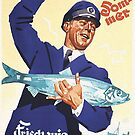 Fresh Fish in Summer..German advertising art by edsimoneit