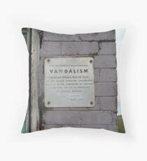 Vandalism Throw Pillow