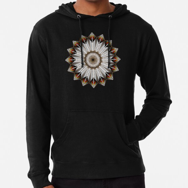 Native Feather Design Lightweight Hoodie