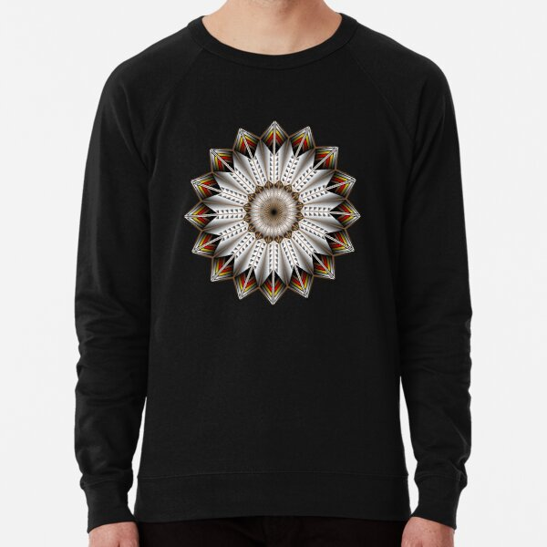 Native Feather Design Lightweight Sweatshirt