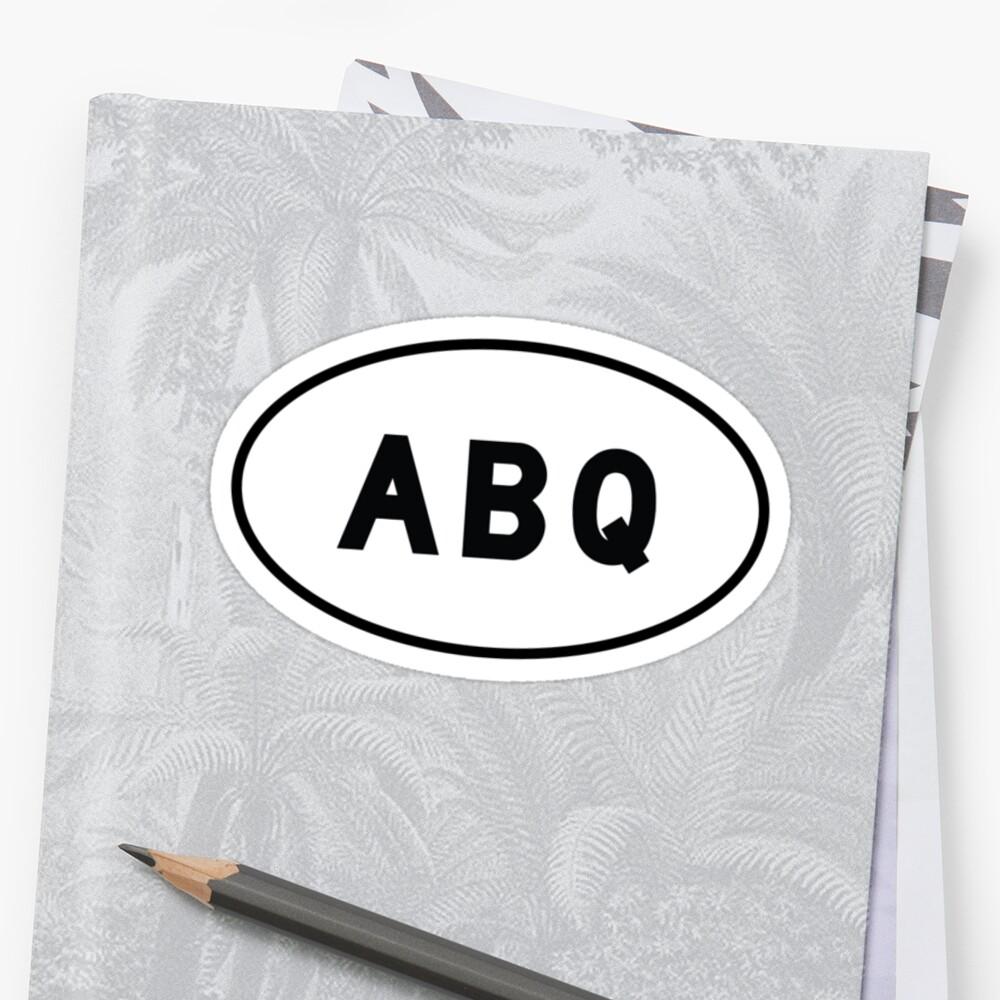 Euro Sticker - ABQ - Albuquerque International Sunport by vidicious