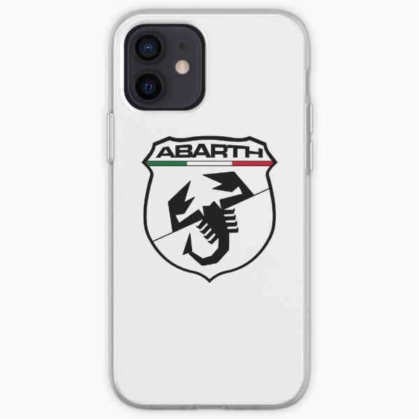 Escudo Abarth negro Funda blanda para iPhone