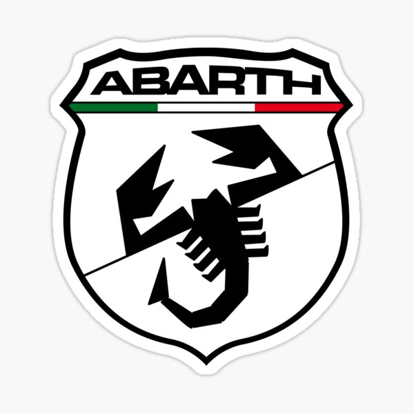 Black Abarth Shield Sticker
