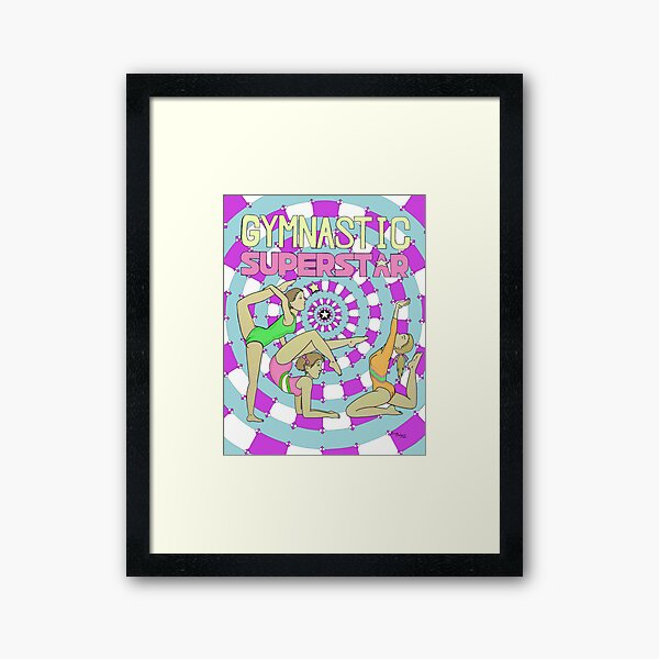 Gymnastic Superstar Framed Art Print