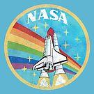 USA-Weinlese-Raketen-Regenbogen V02 von Lidra