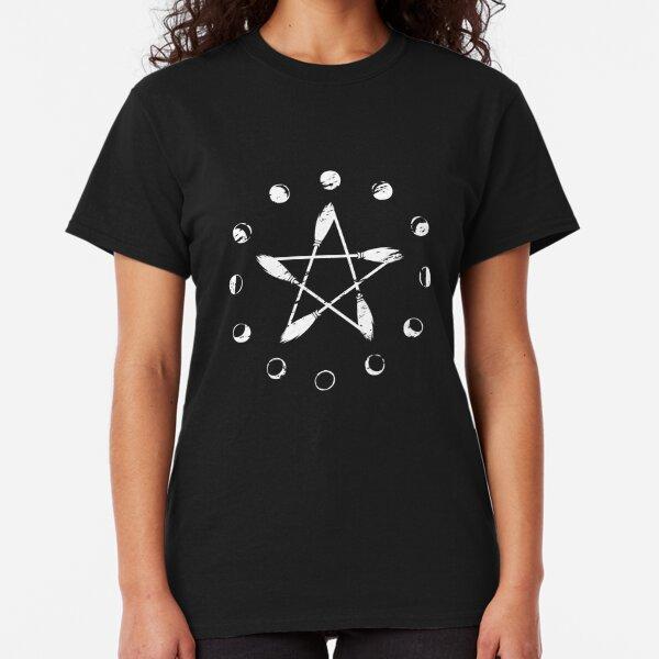 Moon Phase Broom Pentacle Classic T-Shirt