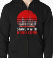 Stand With Hong Kong Zipped Hoodie