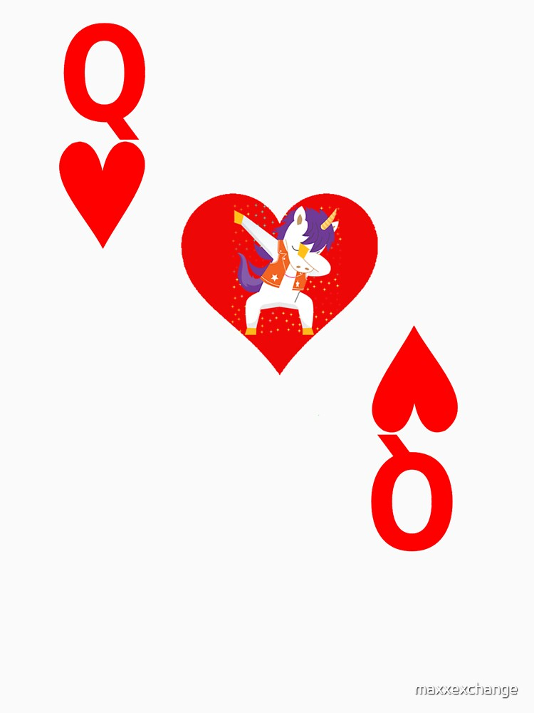 Unicorn Queen of Hearts, Deck of Cards, Dabbing Unicorn Costume. by maxxexchange