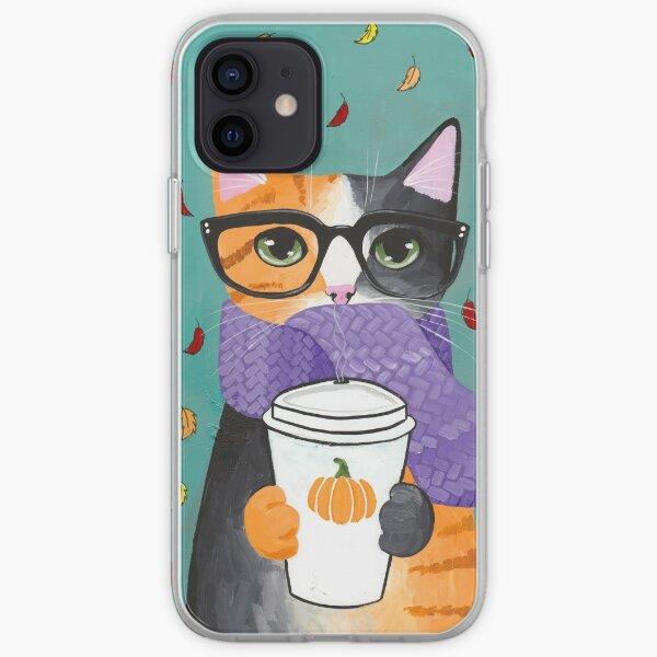 Calico Autumn Coffee Cat iPhone Soft Case