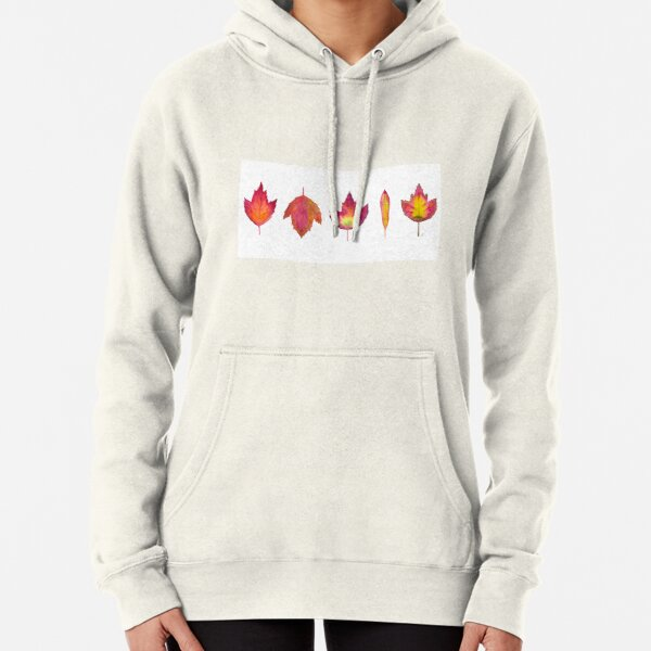 Autumn Pressed Leaves Pullover Hoodie
