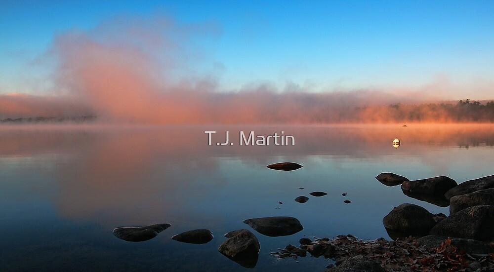 A Pink Mist Rising At Dawn - Crystal Lake by T.J. Martin