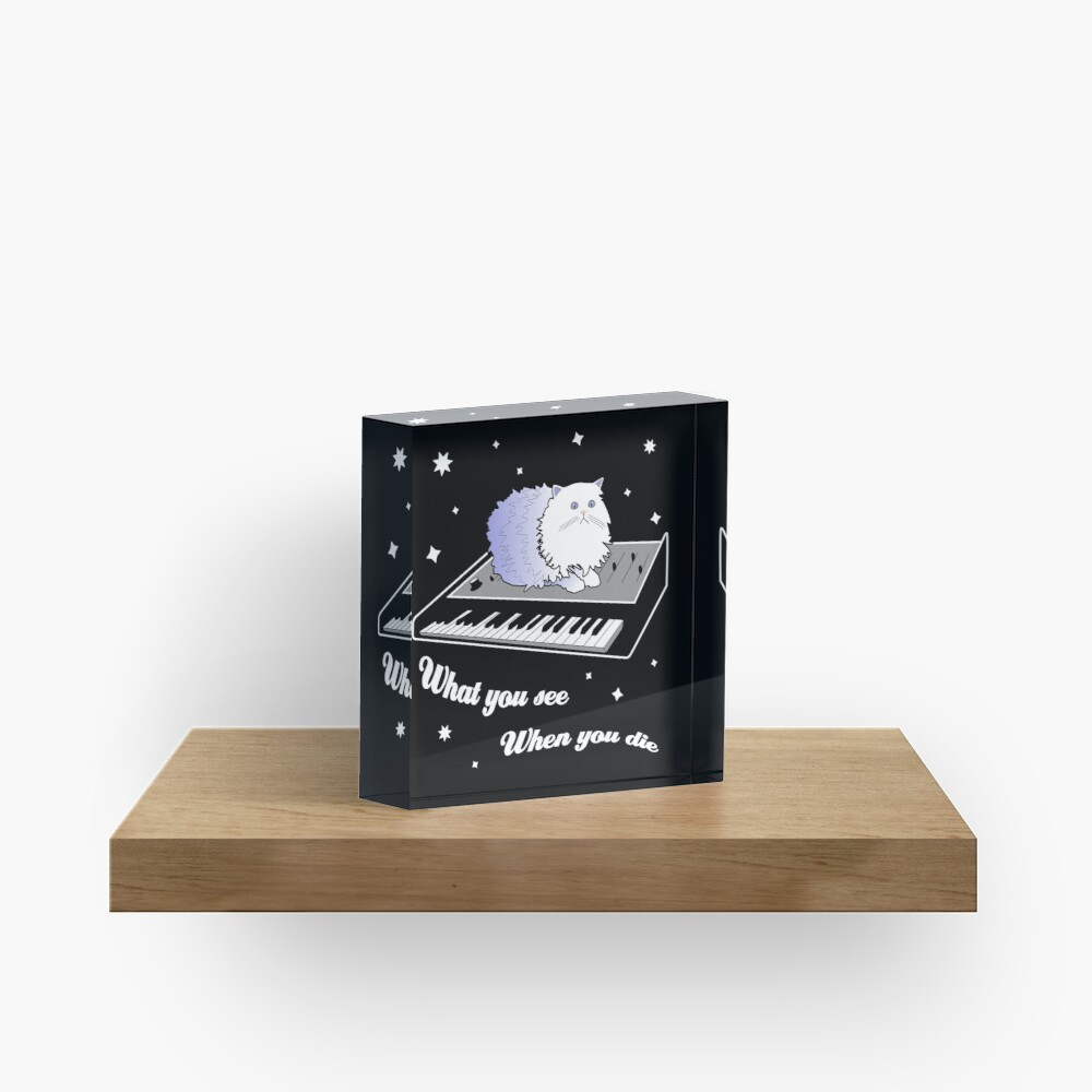 Cat on a Keyboard in Space Acrylic Block