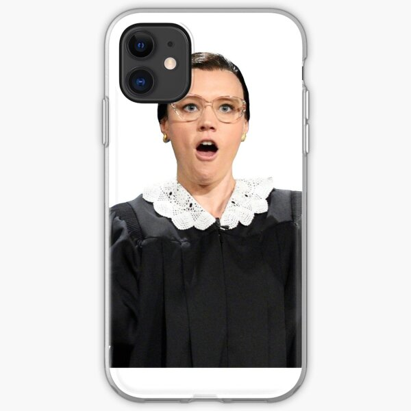 Kate McKinnon as Ruth Bader Ginsburg iPhone Soft Case
