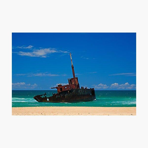 Sygna Wreck on Stockton Beach Photographic Print