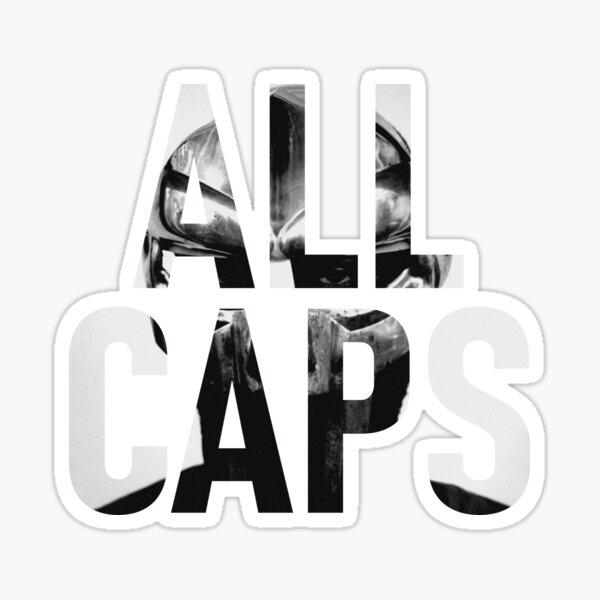 ALL CAPS MADVILLAINY Sticker