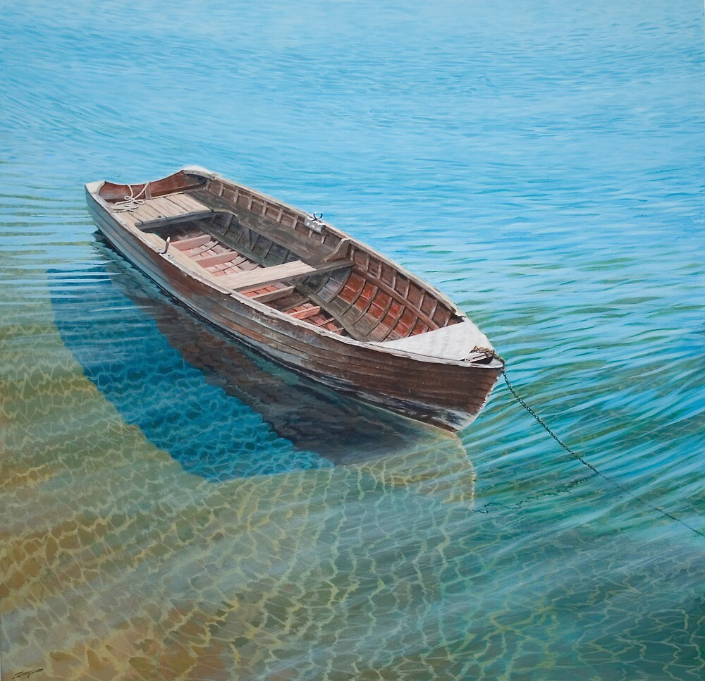 The old wooden boat by Freda Surgenor