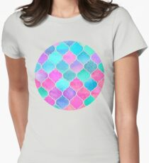Bright Moroccan Morning - pretty pastel color pattern Womens Fitted T-Shirt