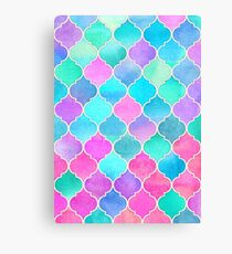 Bright Moroccan Morning - pretty pastel color pattern Canvas Print