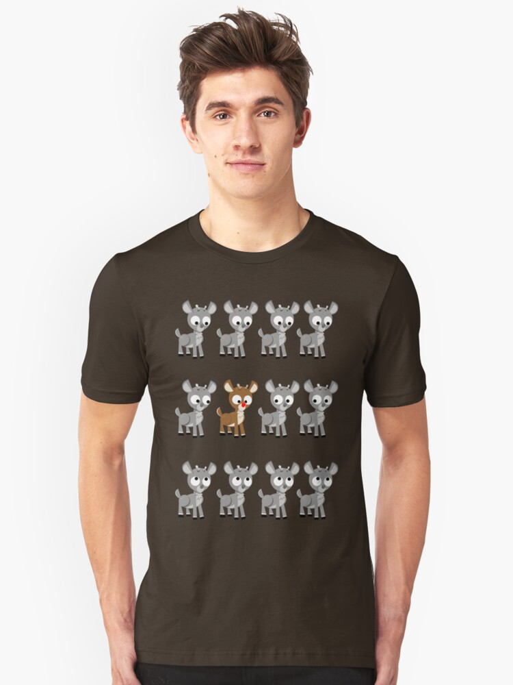 LOOK! It's Rudolph! v2 Unisex T-Shirt Front