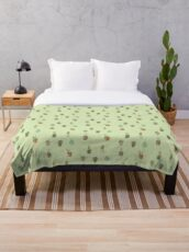 Cacti I Have Known Throw Blanket