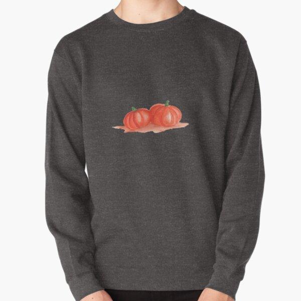 Two Pumpkins in Watercolor Pullover Sweatshirt
