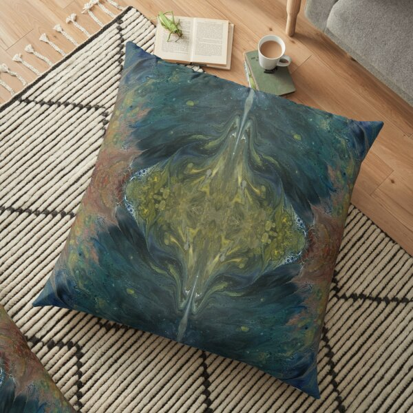 The River Dreams of Spring Floor Pillow